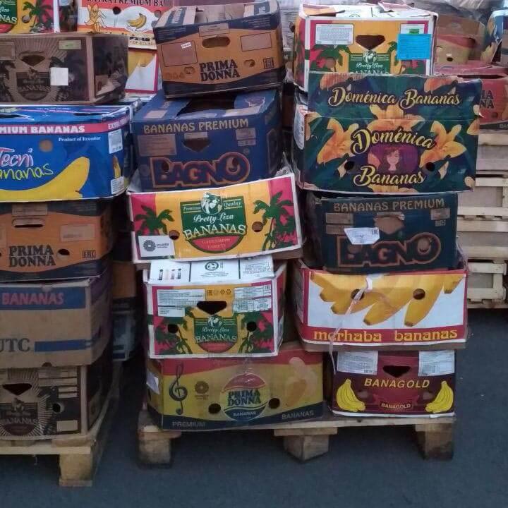 коробки от бананов хорошо подходят для перевозки огурцов