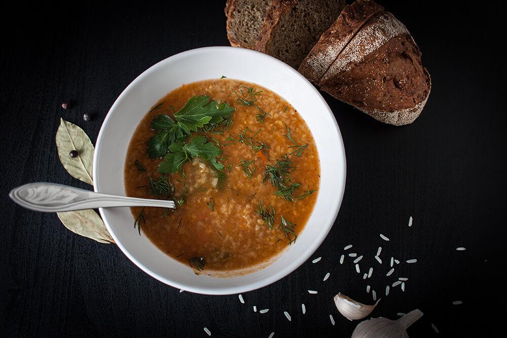 пример подачи супа харчо от АФК