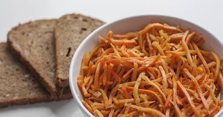 морковь по-корейски пример сервировки