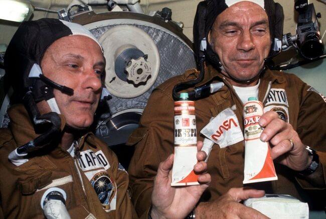Шутка советских космонавтов миссии Союз-Аполлон
