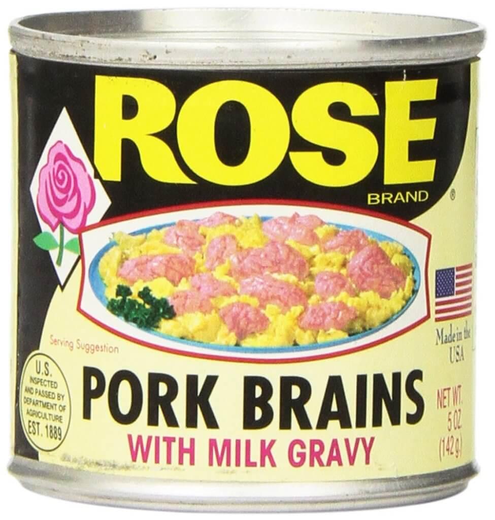 Необычный деликатес - консервированный свиной мозг