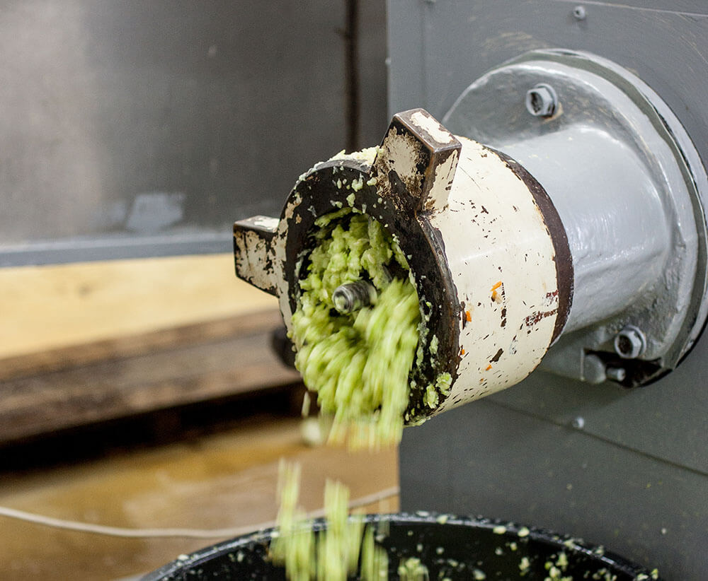 Мы перекручиваем кабачки на мощной мясорубке