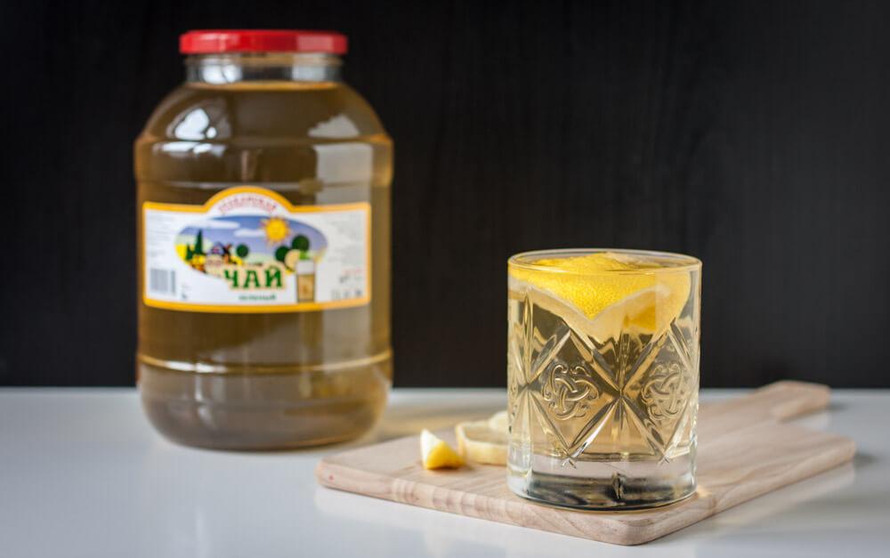 Зелёный чай произведен методом заваривания