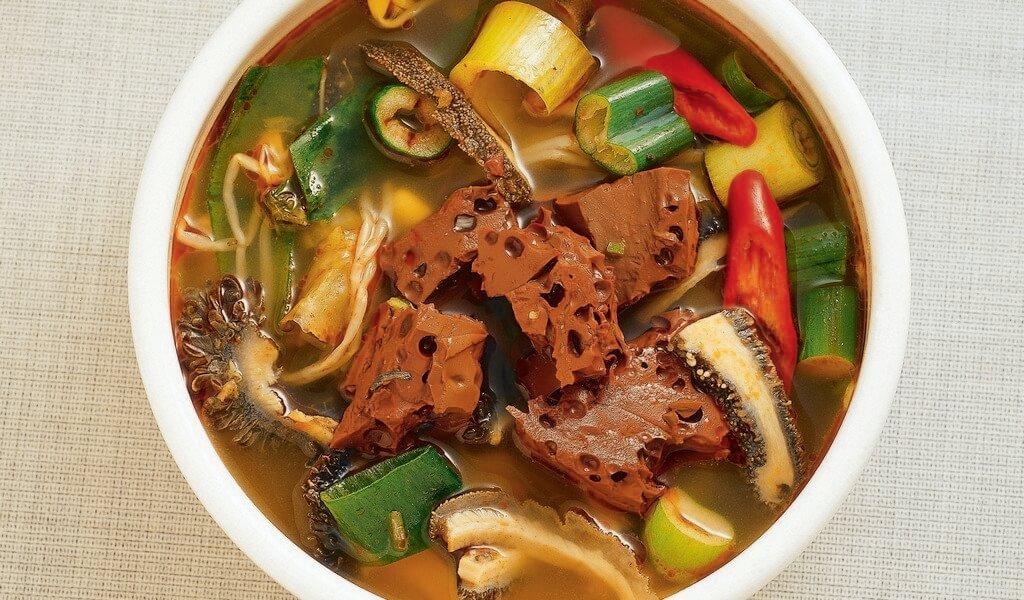 Суп со свернувшейся бычьей кровью помогает от похмелья